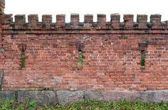 Beståndsdel av en tegelstenvägg Arkivbild