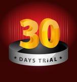 beståndsdel för 30 dagar försökdesign Royaltyfri Bild