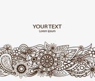 Beståndsdel för blommadesignvektor med textstället för inbjudningar och kort Royaltyfri Foto