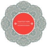Beståndsdel för design för Ð-¡ olour dekorativ med en rund modell mandala Royaltyfria Bilder