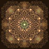 Beståndsdel för design för Ð-¡ olour dekorativ med en rund modell mandala Royaltyfri Foto