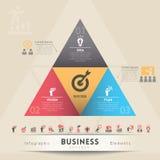 Beståndsdel för diagram för begrepp för affärsstrategi Arkivfoto