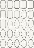 Beståndsdel för fastställd design för ram för vektortappninggräns Royaltyfri Bild