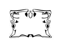 Beståndsdel för gräns för Calligraphic fyrkantig ram för tappning dekorativ blom- med krusidullar stock illustrationer