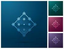 Beståndsdel för grafisk design, fyrkantig design för symbol för ankarpunkt stock illustrationer