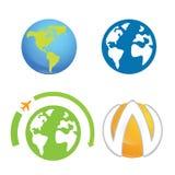 Beståndsdel för logo för världsjordplanet royaltyfri illustrationer