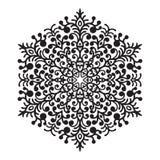Beståndsdel för mandala för handteckningszentangle Arkivbild