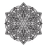 Beståndsdel för mandala för handteckningszentangle Arkivfoto