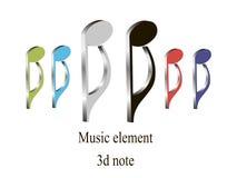 beståndsdel för musik 3d Arkivbilder