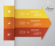 beståndsdel för pil för 3 moment infographic för presentation Royaltyfri Fotografi