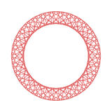 Beståndsdel för rosett för Guillocheprydnad dekorativ Arkivfoto