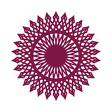 Beståndsdel för rosett för Guillocheprydnad dekorativ Royaltyfri Fotografi