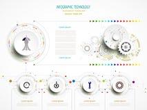 Beståndsdel för teknologi för timeline för Infographic affärsmall Arkivfoton