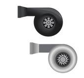 Beståndsdel för turboladdareuppladdarevektor Royaltyfri Illustrationer