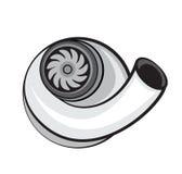 Beståndsdel för turboladdareuppladdarevektor Stock Illustrationer