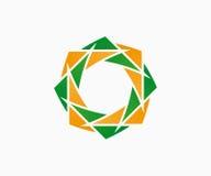 Beståndsdel för vektorlogodesign Blomma som är blom-, eco Fotografering för Bildbyråer