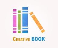 Beståndsdel för vektorlogodesign Boken läste, arkivet Arkivbild