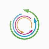 Beståndsdel för vektorlogodesign Pil pekare, cirkel Arkivfoton