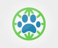 Beståndsdel för vektorlogodesign Tafsa djuret, jordklot, Arkivbild
