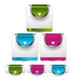 Beståndsdel för Websitedesignmall vektor EPS10 Royaltyfria Bilder