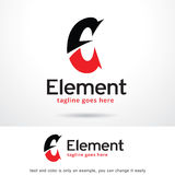 Beståndsdel Logo Template Design Vector för bokstav E Stock Illustrationer