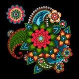 Beståndsdel Paisley för blom- design Arkivfoton