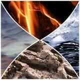 4 beståndsdelar arkivfoto