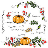 Beståndsdelar Autumn Leave Decoration vektor illustrationer