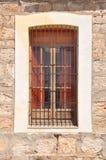 Beståndsdelar av bakgrunden Dörrar fönster, väggar Arkivbild