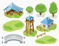 Beståndsdelar av bosättningvektorn Royaltyfri Fotografi