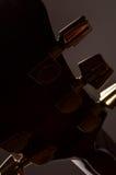 Beståndsdelar av den akustiska gitarren Arkivbilder