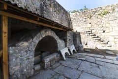 Beståndsdelar av det kyrkliga arkitekturstället av jordfästningen av St Nicholas Royaltyfri Fotografi