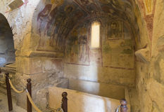Beståndsdelar av det kyrkliga arkitekturstället av jordfästningen av St Nicholas Fotografering för Bildbyråer
