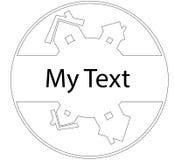 Beståndsdelar av huslogosymbolen planlägger mallen i cirkeln Royaltyfria Foton