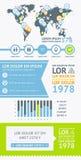 Beståndsdelar av Infographics med knappar och menyer Arkivfoton