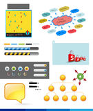 Beståndsdelar av infographicsen Royaltyfri Fotografi