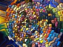 Beståndsdelar av målad glas Arkivfoto