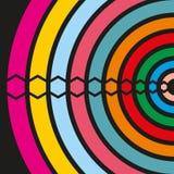 Beståndsdelar av olika färger på en svart bakgrund Arkivbilder