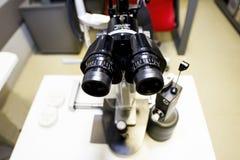 Beståndsdelar av optiska medicinska apparater som används i oftalmologi Arkivbilder