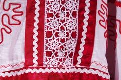 Beståndsdelar av ryska designkvinnors kläder Royaltyfri Fotografi