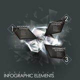 Beståndsdelar för ädelsten för vektorabstrakt begreppglimt infographic Royaltyfri Bild