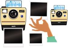 Beståndsdelar för ögonblicklig kamera Arkivfoton