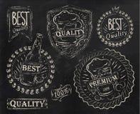 Beståndsdelar för öl för tappningtryckdesign. Krita. Royaltyfri Fotografi