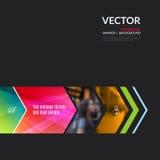 Beståndsdelar för affärsvektordesign för grafisk orientering Modern abstr Royaltyfri Foto