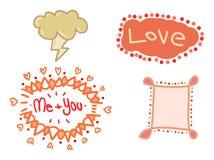 Beståndsdelar för att gifta sig garneringar vektor illustrationer