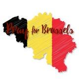 Beståndsdelar för Belgien flaggadesign Royaltyfria Bilder