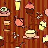 Beståndsdelar för design för kaffeavbrott Arkivbild