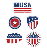 Beståndsdelar för design för USA stjärnaflagga Arkivbilder