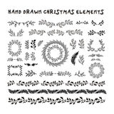 Beståndsdelar för design för vektorsamling hand drog Royaltyfri Fotografi