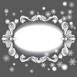 Beståndsdelar för designhälsningkort med snöflingor royaltyfri illustrationer